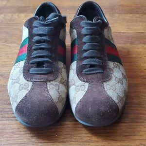 Gucci Sneakers Lacu Up Sneaker Brown/Canvas